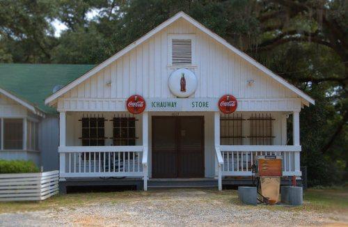 Ichauway Store Woodruff Plantation Baker County GA Iconic Landmark Photograph Copyright Brian Brown Vanishing South Georgia USA 2014