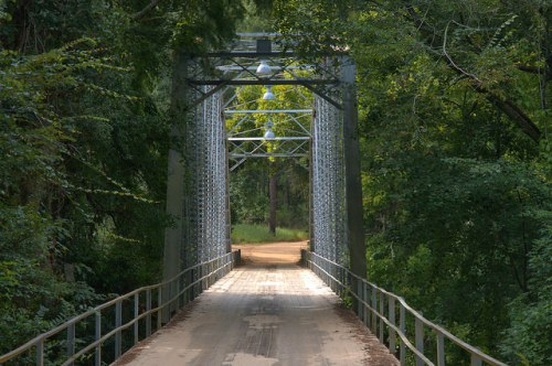 Ichuaway Plantation Bridge Baker County GA Photograph Copyright Brian Brown Vanishing South Georgia USA 2014