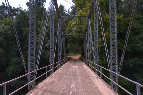 Ichuaway Plantation Bridge Wood and Iron Truss Baker County GA Photograph Copyright Brian Brown Vanishing South Georgia USA 2014