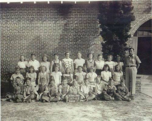 Kirkland GA Atkinson County Consolidated School 7th Grade Class Photograph 1947-48 Courtesy of the Days Gone By Atkinson County Georgia Facebook Page