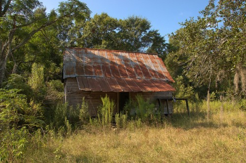 Mitchell County GA Abandoned Tenant House Vernacular Architecture Photograph Copyright Brian Brown Vanishing South Georgia USA 2014