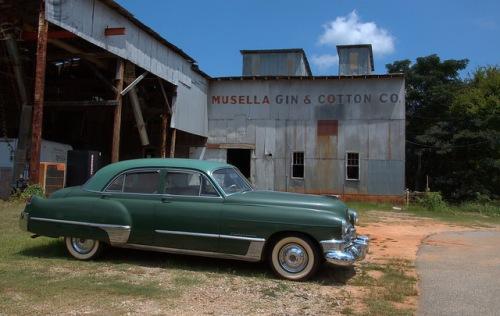 Musella Gin & Cotton Company Crawford County GA 1949 Cadillac Photograph Copyright Brian Brown Vanishing South Georgia USA 2014