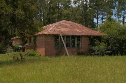 Old Kirkland Schoolhouse Atkinson County GA Photograph Copyright Brian Brown Vanishing South Georgia USA 2014