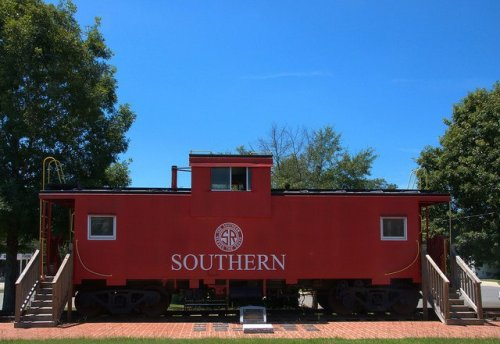 Southern Railway Caboose Roberta GA Crawford County Photograph Copyright Brian Brown Vanishing South Georgia USA 2014