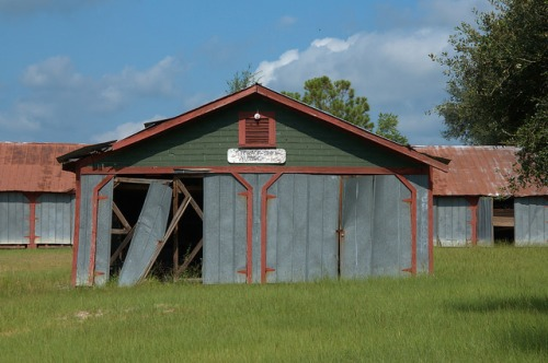 Vada GA Mitchell County Ghost Town Storage Barn Photograph Copyright Brian Brown Vanishing South Georgia USA 2014