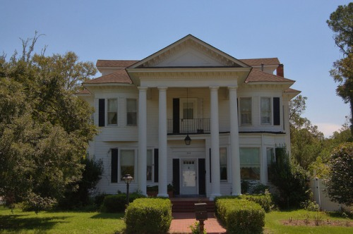 Adel GA Cook County Historic House Classical Revival Architecture Photograph Copyright Brian Brown Vanishing South Georgia USA 2014