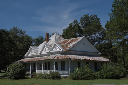 Ellenton GA Colquitt County Folk Victorian Architecture House Landmark Photograph Copyright Brian Brown Vanishing South Georgia USA 2014