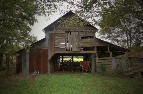 Long County GA Baxter Farm Barn Photograph Copyright Brian Brown Vanishing South Georgia USA 2014