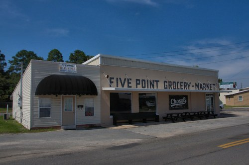 Nashville GA Historic Five Point Grocery Market Photograph Copyright Brian Brown Vanishing South Georgia USA 2014