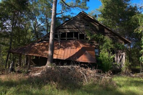 Abandoned Country Church Bulloch County GA Photograph Copyright Brian Brown Vanishing South Georgia USA 2014
