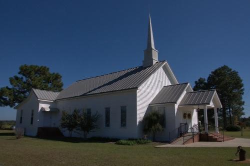 Appling County GA Hopewell United Methodist Church Photograph Copyright Brian Brown Vanishing South Georgia USA 2014