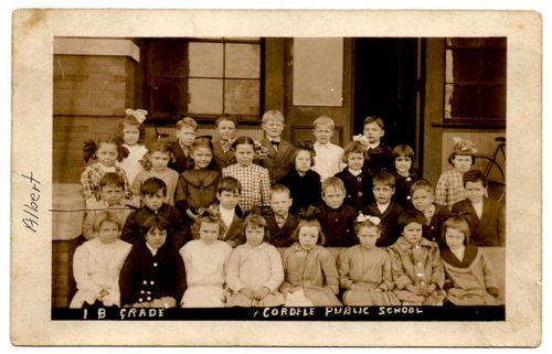 Cordele Public School GA Circa 1912 2nd Grade Itinerant Photographer Real Photo Postcard Circa 1911 Collection of Brian Brown Vanishing South Georgia USA 2014