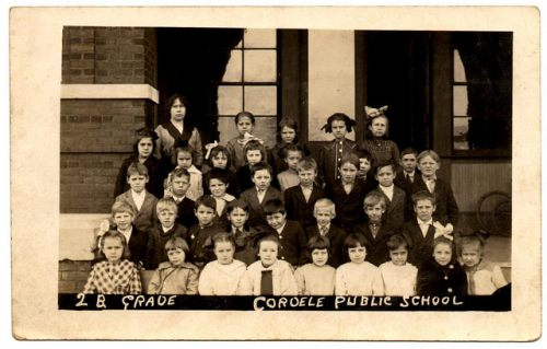 Cordele Public School GA Circa 1912 2nd Grade Itinerant Photographer Real Photo Postcard Circa 1912 Teacher Collection of Brian Brown Vanishing South Georgia USA 2014