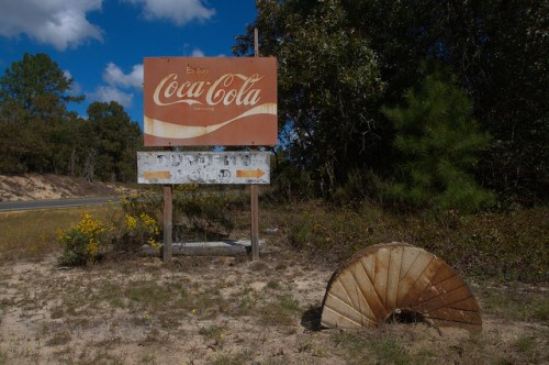 Durdenville GA Durdens Mill Pond Emanuel County Coca Cola Sign Millstone Photograph Copyright Brian Brown Vanishing South Georgia USA 2014