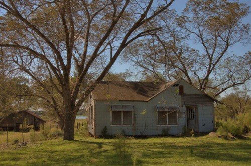 Farmhouse with Awnings Pecan Orchard Inaha GA Turner County Photograph Copyright Brian Brown Vanishing South Georgia USA 2014