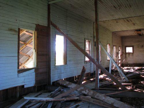 Lanier County GA Abandoned Farmhouse near Henderson Still Interior Photograph Copyright Brian Brown Vanishing South Georgia USA 2014