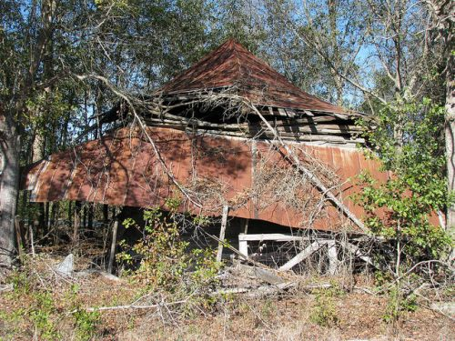 Lanier County GA Henderson Still Abandoned Tobacco Barn Photograph Copyright Brian Bown Vanishing South Georgia USA 2014