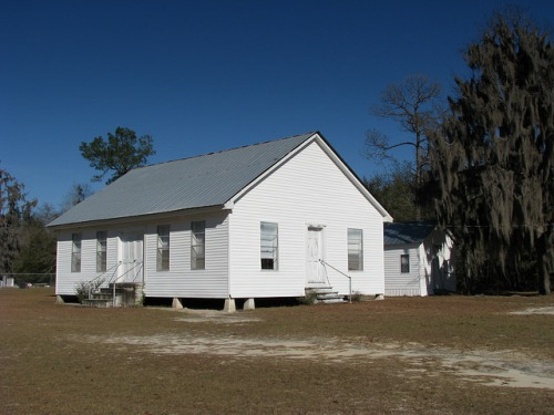 Mount Olive Mud Creek Primitive Baptist Church Lanier County GA Photograph Copyright Brian Brown Vanishing South Georgia USA 2014