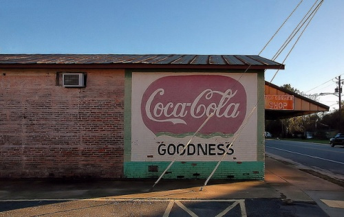 Pineview GA Wilcox County Coca Cola Mural Goodness The Corner Store Photograph Copyright Brian Brown Vanishing South Georgia USA 2014