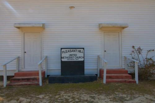 Pleasant Hill United Methodist Church Bulloch County GA Portal Area Gender Segregated Front Doors Photograph Copyright Brian Brown Vanishing South Georgia USA 2014