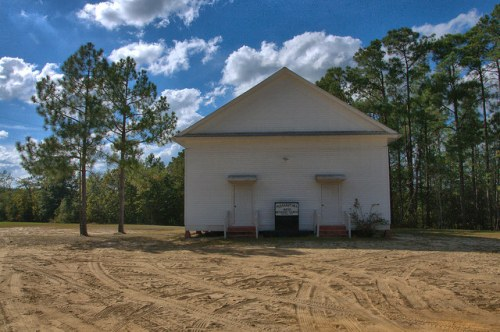Pleasant Hill United Methodist Church Bulloch County GA Portal Area Photograph Copyright Brian Brown Vanishing South Georgia USA 2014