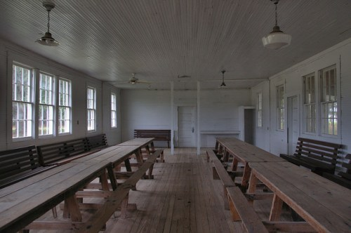 Rye Patch Baptist Church Social Hall Long County GA Photograph Copyright Brian Brown Vanishing South Georgia USA 2014
