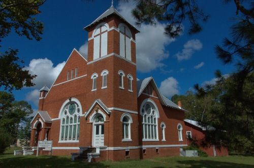 Stillmore Methodist Church Emanuel County GA Gothic Revival Architecture Photograph Copyright Brian Brown Vanishing South Georgia USA 2014