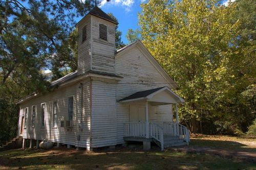 Twin City GA St James AME Church Vernacular Architecture Original Steeple Photograph Copyright Brian Brown Vanishing South Georgia USA 2014