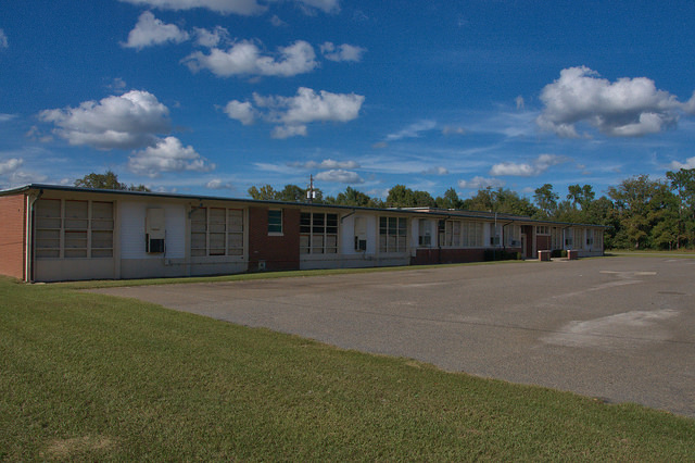 Willow Hill Elementary School for Negroes Bulloch County GA Equalization School Photograph Copyright Brian Brown Vanishing South Georgia USA 2014