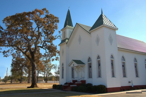 Blythe GA Richmond County Baptist Church Photograph Copyright Brian Brown Vanishing South Georgia USA 2014