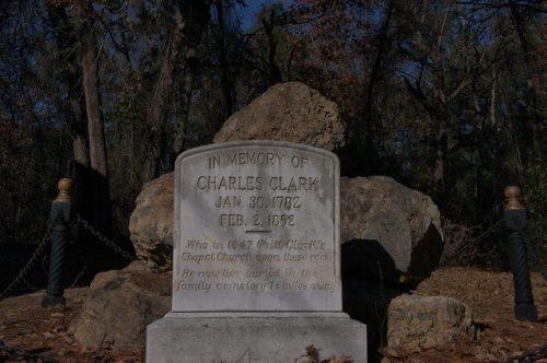 Clarks Chapel M E Church Charles Clark Memorial Burke County GA Photograph Copyright Brian Brown Vanishing South Georgia USA 2014