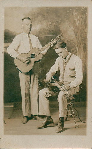 Columbus Stockade Blues Tom Darby Jimmie Tarlton Early Georgia Roots Musicians Real Photo Postcard Collection of Brian Brown Vanishing South Georgia USA 2014