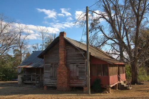 Gough GA Burke County Historic 19th Century Farmhouse Tenant Cabin Photograph Copyright Brian Brown Vanishing South Georgia USA 2014