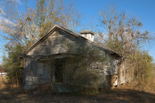 Gough GA Burke County Old Schoolhouse Abandoned Funeral Home Photograph Copyright Brian Brown Vanishing South Georgia USA 2014