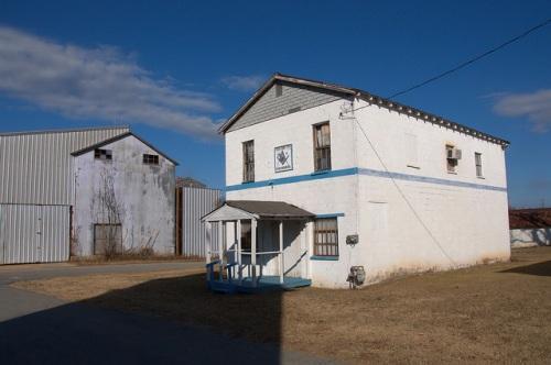 Gough GA Burke County Prince Hall Masons Masonic Lodge Ag Warehouses Photograph Copyright Brian Brown Vanishing South Georgia USA 2014