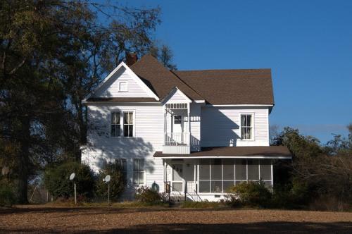 Gough GA Burke County Vernacular House White Clapboard Two Story Photograph Copyright Brian Brown Vanishing South Georgia USA 2014