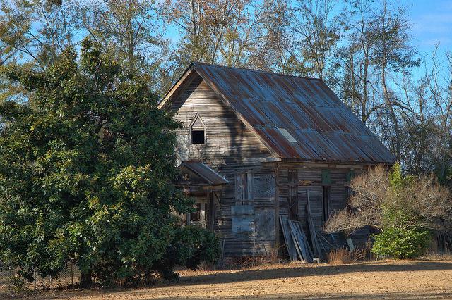 Gough GA Historic Abandoned Church Photograph Copyright Brian Brown Vanishing South Georgia USA 2014