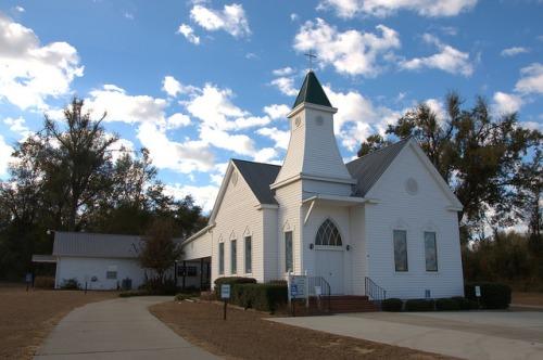 Greens Cut United Methodist Church Burke County GA Photograph Copyright Brian Brown Vanishing South Georgia USA 2014