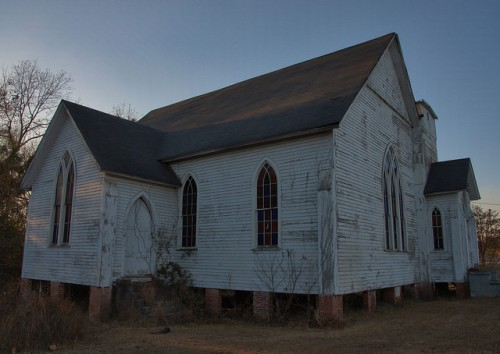 Haven Memorial ME Church Waynesboro GA Photograph Copyright Brian Brown Vanishing South Georgia USA 2014