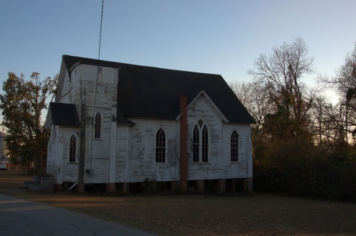 Haven Memorial ME Church Waynesboro GA Side View Photograph Copyright Brian Brown Vanishing South Georgia USA 2014