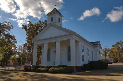 Hephzibah GA Richmond County Methodist Church Photograph Copyright Brian Brown Vanishing South Georgia USA 2014
