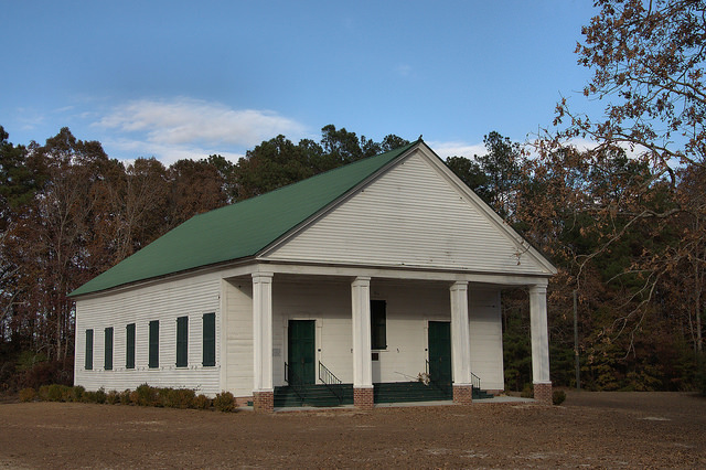 Historic Bark Camp Baptist Church Burke County GA Antebellum Landmark Photograph Copyright Brian Brown Vanishing South Georgia USA 2014