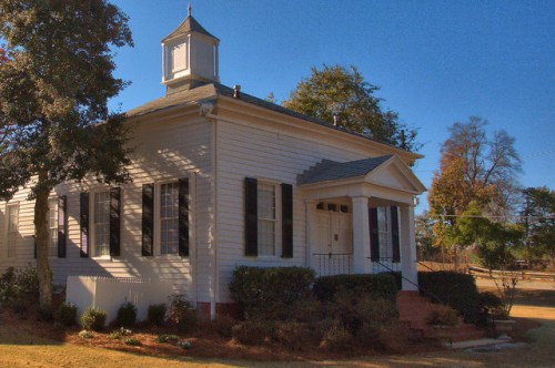 Historic Bath Presbyterian Church Richmond County GA Photograph Copyright Brian Brown Vanishing South Georgia USA 2014
