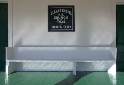 Historic Clarks Chapel ME Church Front Porch Antebellum Landmark Photograph Copyright Brian Brown Vanishing South Georgia USA 2014