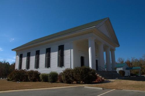Historic Hopeful Baptist Church Burke County GA Antebellum Landmark Photograph Copyright Brian Brown Vanishing South Georgia USA 2014