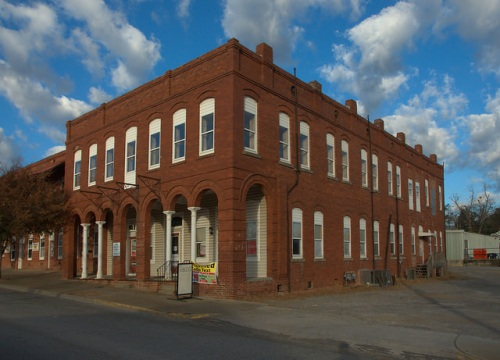 Melrose Hotel Building Waynesboro GA Burke County Photograph Copyright Brian Brown Vanishing South Georgia USA 2014