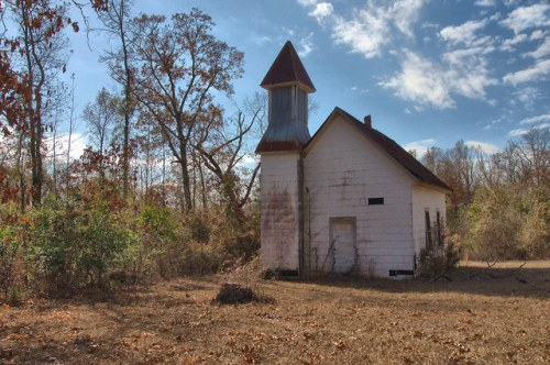Old Ways Grove Baptist Church Stellaville GA Jefferson County Photograph Copyright Brian Brown Vanishing South Georgia USA 2014