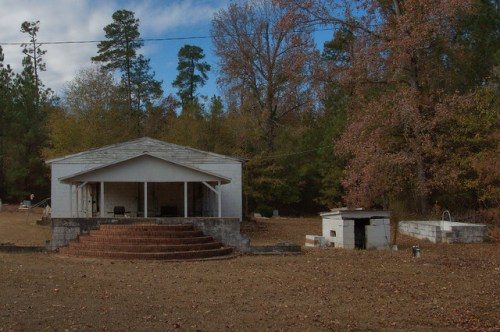 St. Clair GA Burke County Missionary Baptist Church Social Hall Old Church Baptismal Pool Photograph Copyright Brian Brown Vanishing South Georgia USA 2014