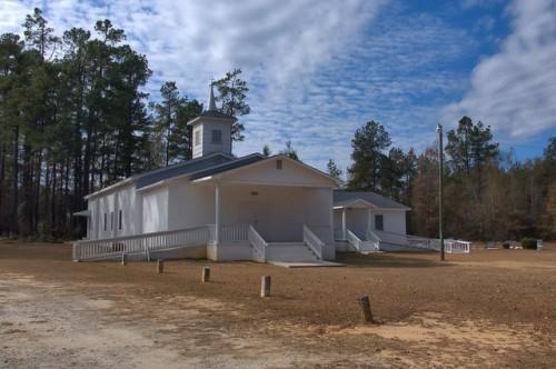 St. Clair Missionary Baptist Church Burke County GA Photograph Copyright Brian Brown Vanishing South Georgia USA 2014