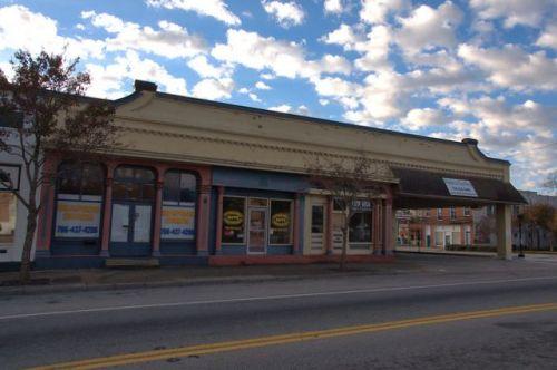 Waynesboro GA Early 20th Century Automobile Dealership Garage Service Station Photograph Copyright Brian Brown Vanishing South Georgia USA 2014